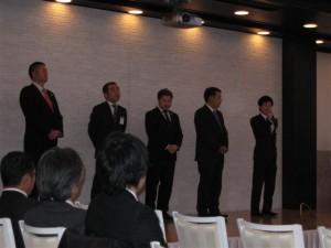 ⑥ 次年度正副会長予定者による挨拶