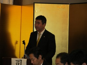 司会進行する 船橋YEG 大木 総務広報副委員長